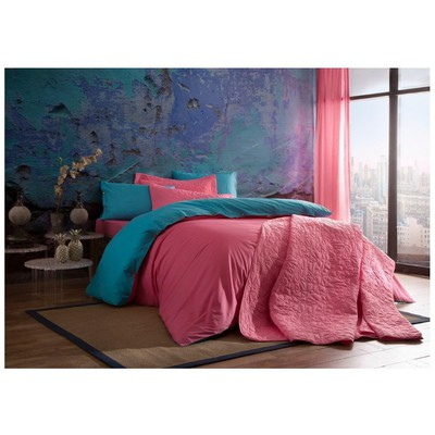 Taç Tek Kişilik Yatak Örtüsü - Picasa Pembe Yatak Örtüleri