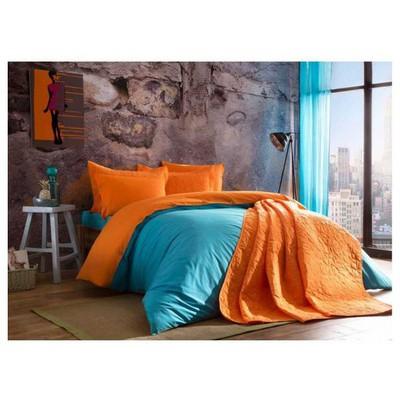 Taç Çift Kişilik Yatak Örtüsü - Picasa Turuncu Yatak Örtüleri