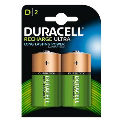 Duracell Şarj Edilebilir Büyük Boy Pil 2 Adet Model D Pil / Şarj Cihazı