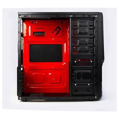 Redrock C807BR 300w Mid Tower Kasa - Siyah/Kırmızı