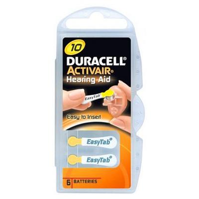 Duracell Activeair 10 Kulaklık 0i 6'lı Pil / Şarj Cihazı