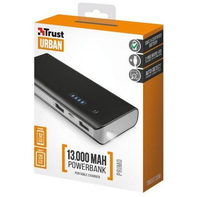 Trust Urban Primo PowerBank 13000 - Siyah (21689)