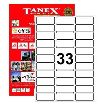 Tanex Yazıcı i 63.5 x 25.5 mm (TW-2033) Etiket