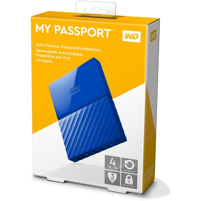 WD 4TB My Passport Taşınabilir Disk (WDBYFT0040BBL)