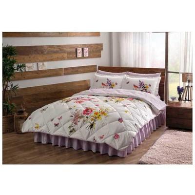 Taç Saten Uyku Seti Çift Kişilik - Paradise Sarı Uyku Setleri