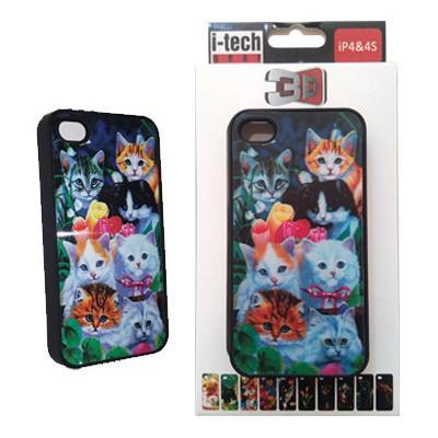 Icatch Inc I-techgear X-617, Iphone 4/4s Uyumlu Üç Boyutlu (3d) Arka Kapak - Kediler Cep Telefonu Kılıfı