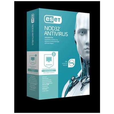 Eset 8697690850668 Nod32 Antivirus V10, 3 Kullanıcı, 1 Yıl, Kutu