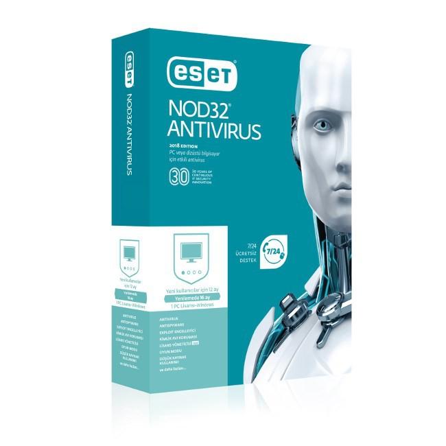 Eset 8697690850651 Nod32 Antivirus V10 1 Kullanıcı Kutu