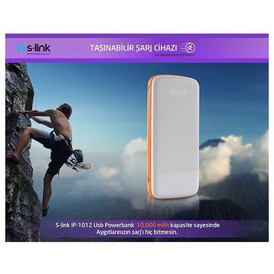 s-link-ip-1012b-10000mah-powerbank-beyaz-turuncu-tasinabilir-pil-sarj-cihazi