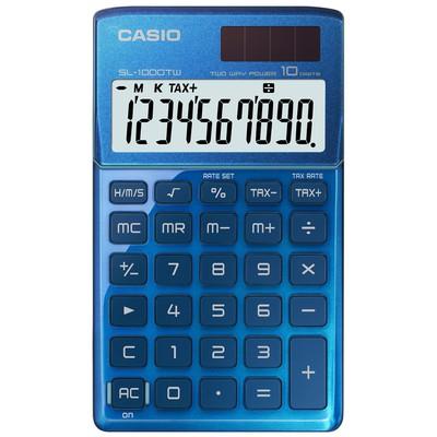 Casio SL-1000TW-BU 10 HANE CEP HESAP MAKİNESİ