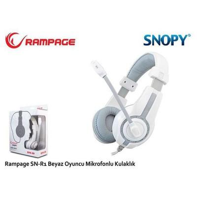 Snopy Sn-r1b Rampage Sn-r1 Oyuncu Beyaz/siyah Mikrofonlu Kulaklık Kafa Bantlı Kulaklık