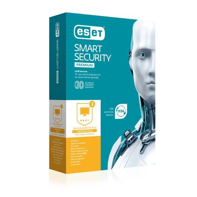 Eset 8697690850729 Smart Security Premium 3 Kullanıcı Kutu