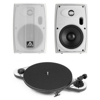 Amate Audio B5A Aktif Monitör ve Pro-Ject Pikap Seti