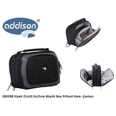 Addison 300208 21x10.5x15cm Büyük Boy Prfsynl Kam. Çantası Siyah Kamera Aksesuarı