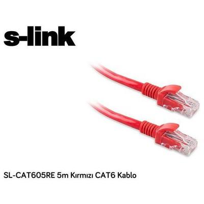 S-Link CAT6 5m Kablo - Kırmızı (SL-CAT605RE)