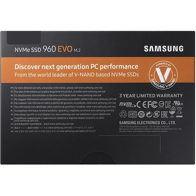 Samsung 250GB 960 Evo NVMe M.2 SSD (MZ-V6E250BW)