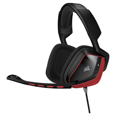 Corsair Gaming Ca-9011144-eu Voıd Surround Hybrid Stereo Gaming Headset With Dolby 7.1 Usb Adapter - Red (eu Version) Kafa Bantlı Kulaklık