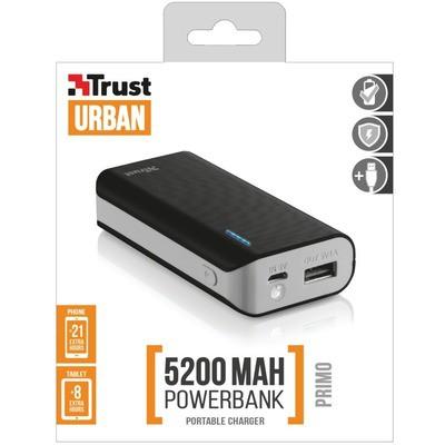 Trust Urban Primo PowerBank 5200 - Siyah (21635)
