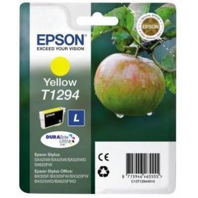 Epson  C13t12944022 Yellow-l-500sf-b42wd/bx305f/bx320/bx525/bx625 7 Ml-l