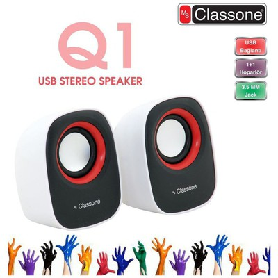 Classone K3002 1+1 Speaker - Beyaz