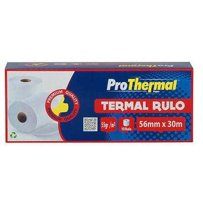 ProThermal Termal Rulo 56 mm x 30 m 10 Adet Özel Kağıt
