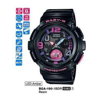Casio BGA-190-1BDR Kadın Kol Saati