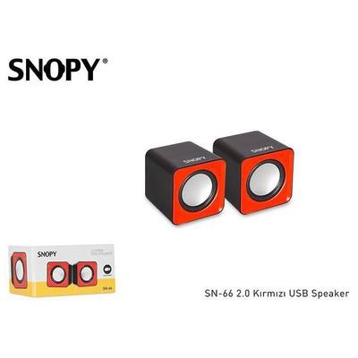 Snopy SN-66 1+1 USB Speaker - Kırmızı