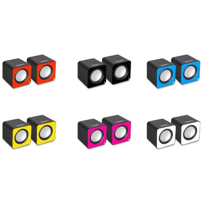 Snopy SN-66 1+1 USB Speaker - Mavi