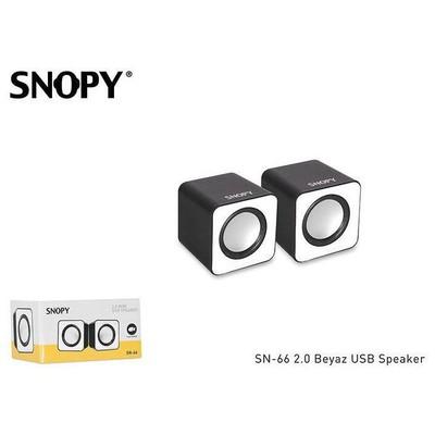 Snopy SN-66 1+1 USB Speaker - Beyaz
