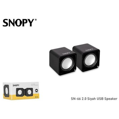 Snopy SN-66 1+1 USB Speaker - Siyah