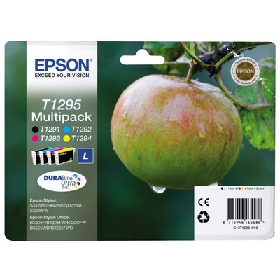 Epson C13t12954022 Siyah+mavı/kırmızı/sarı Kartus 32.2ml-l Kartuş