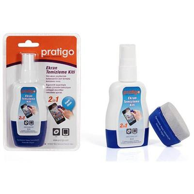 Pratigo PR0003 TABLET ve TELEFON EKRAN TEMİZLEME SPREYİ 2 IN 1 KİT Cep Telefonu Aksesuarı