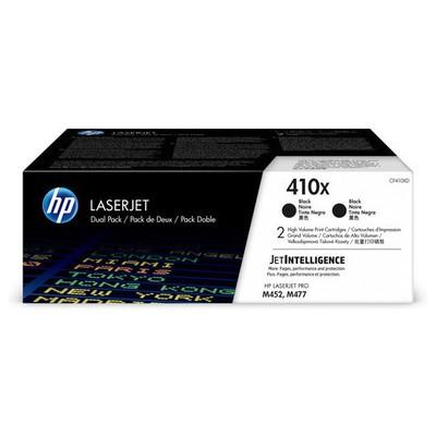 HP Cf410xd (410x) Sıyah 2lı Yuksek Kapasıtelı  6.500 Sayfa Toner
