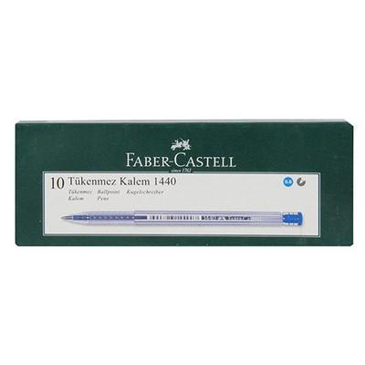 Faber Castell Tükenmez  10'lu Paket (1440) Mavi Kalem