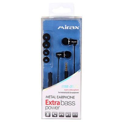 Mirax Kulakiçi Kulaklık Extra Bass Mikrofonlu Metal Siyah (sse-3150) Kulak İçi Kulaklık