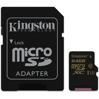 Kingston 64GB Gold UHS-I U3 microSD Kart (SDCG-64GB)