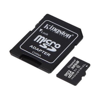 Kingston 32gb Microsdhc Uhs-ı Class 10 Industrial Temp Card + Sd Adapter Micro SD Kart