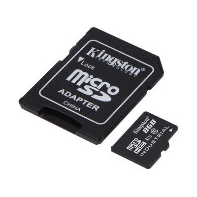 Kingston 8gb Microsdhc Uhs-ı Class 10 Industrial Temp Card + Sd Adapter