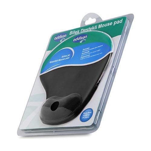Addison Bilek Destekli Siyah 300152 Mouse Pad