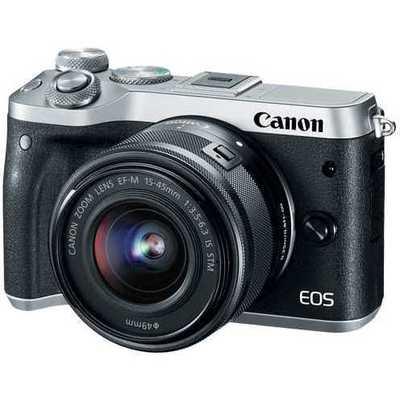 Canon D.cam Eos M6 Sl M15-45 S +m55-200 S Fotoğraf Makinesi