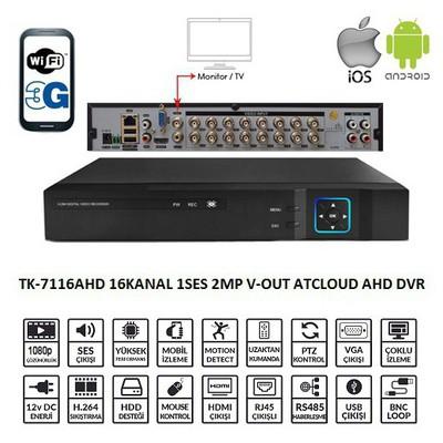 Balandi Tk-7116ahd 16 Kanal 1ses 2mp V-out Atcloud Ahd Dvr Kayıt Cıhazı Güvenlik Kayıt Cihazı