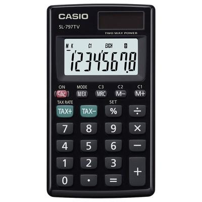 Casio Sl-797tv-bk-w-dp(ph) Cep Tipi Hesap Makinesi