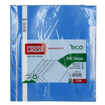 Cassa Telli  Ekonomik 50'li Paket (7730) Mavi Dosya