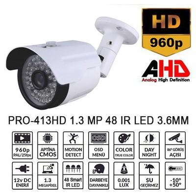 Balandi PRO-413HD 1.3MP 3.6MM 48 LED AHD BULLET Güvenlik Kamerası