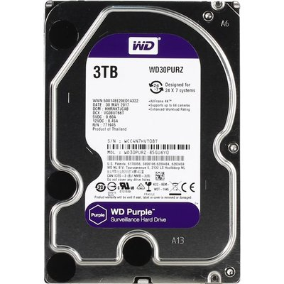 WD WD30PURZ Purple 3TB Surveillance Disk