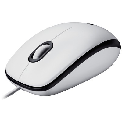 Logitech M100 Kablolu Mouse - Beyaz (910-005004)