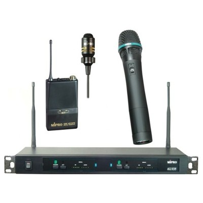 MİPRO Act 707 De El+yaka Kablosuz Çift Mikrofon