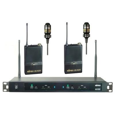 MİPRO Act 707de Yaka Kablosuz Çift Mikrofon
