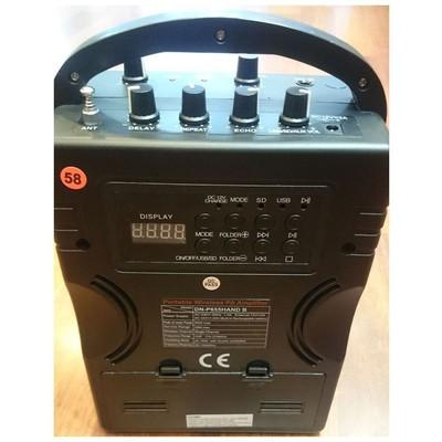 DENOX Dn-p 655hand B Portatif Wireless Mikrofonlu Şarjlı Hoparlör Amfi / Amplifikatör