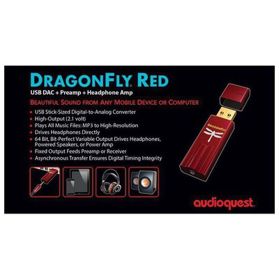 Audioquest DRAGONFLY RED USB  + Preamp + Headphone Amp DAC